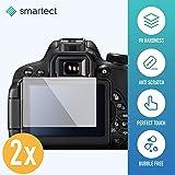 SmarTect 2x Pellicola in Vetro Temperato per Canon EOS 700D/750D/70D/Rebel T5i Tempered Glass Screen Protector Ultra-Sottile 0,3mm | Pellicola Protettiva con Durezza 9H