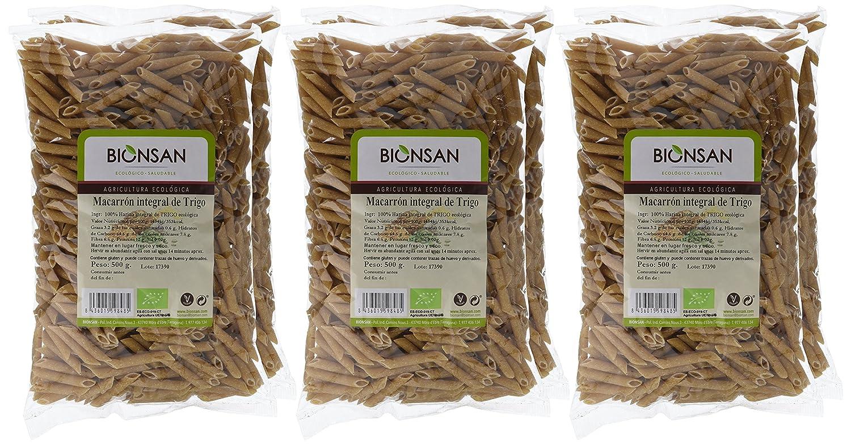 Bionsan Macarrón Integral de Trigo - 6 Paquetes de 500 gr - Total : 3000 gr: Amazon.es: Alimentación y bebidas