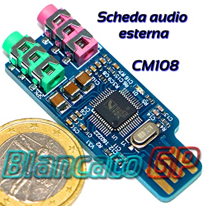Tarjeta de Audio Externa USB con Entrada de micrófono CM108 ...