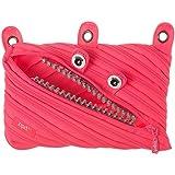 ZIPIT Grillz 3-Ring Pencil Case, Pink