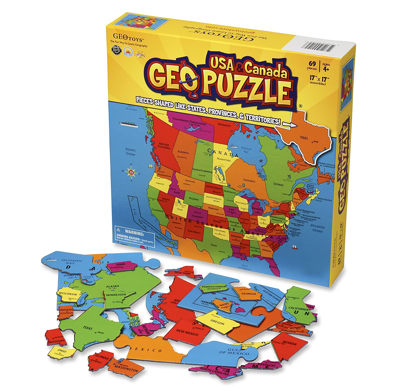 amazon com geotoys set of 6 geopuzzles world map puzzle