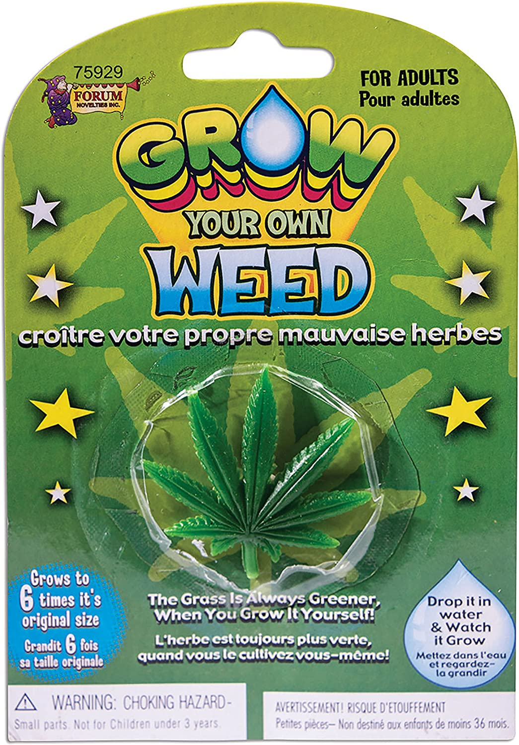Joke Grow your Own Weed Gag Trick Novelty Party Favor Favour