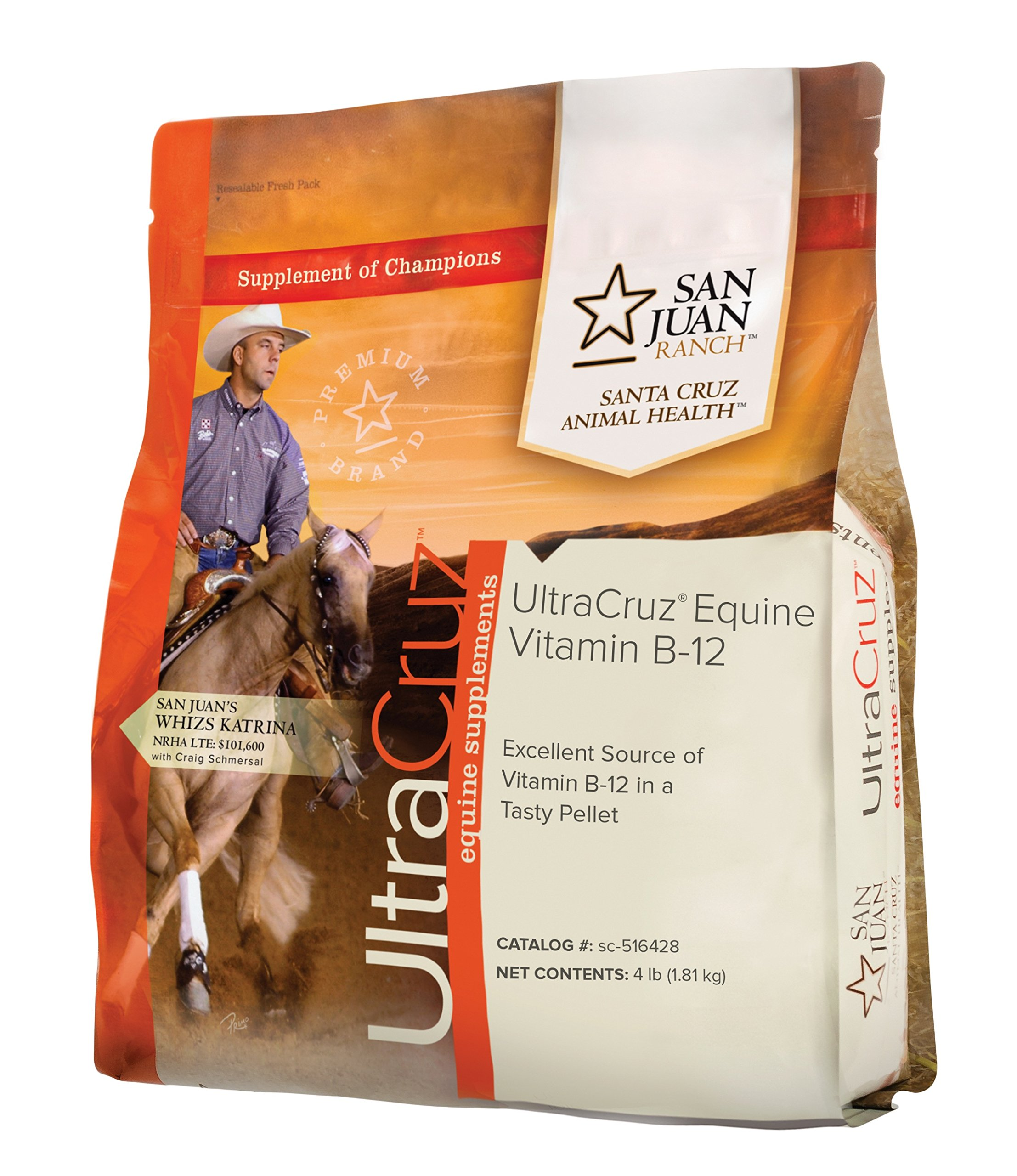 UltraCruz Equine Vitamin B-12 Supplement for Horses, 4 lb, Pellet (64 Day Supply) by UltraCruz
