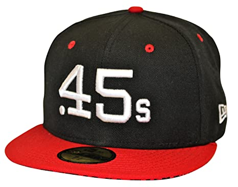d01947aaf7e751 New Era 59Fifty Double Nickel Houston Colt .45s Black   Red Cap (7 1 ...