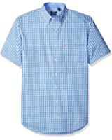 IZOD Men's Big and Tall Advantage Performance Poplin Short Sleeve Shirt