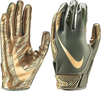 Desplazamiento Nuclear Suburbio  Amazon.com : Nike Adult Vapor Jet 5.0 Receiver Gloves 2018 (Olive/Gold,  Small) : Clothing