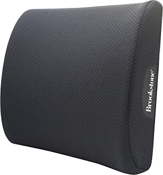 Breathable and Washable Cover Adjustable Strap Luxurious Lumbar Support Pillow for Chair//Car Back Cushion with Premium Grade Memory Foam