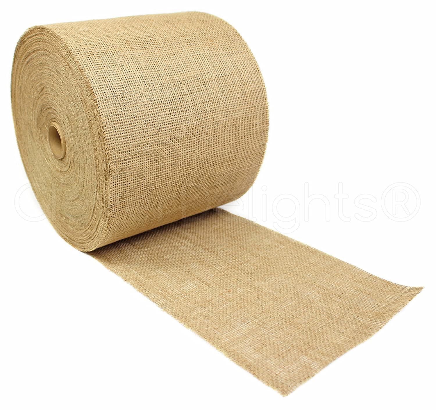 CleverDelights 9 Natural Burlap Roll - 100 Yards - Eco-Friendly Jute Burlap Fabric - 9 Inch by CleverDelights   B016J6NK1O