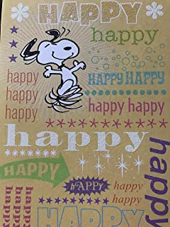 Amazon charlie brown and snoopy friend birthday card peanuts snoopy peanuts happy happy happy happy birthday card bookmarktalkfo Gallery