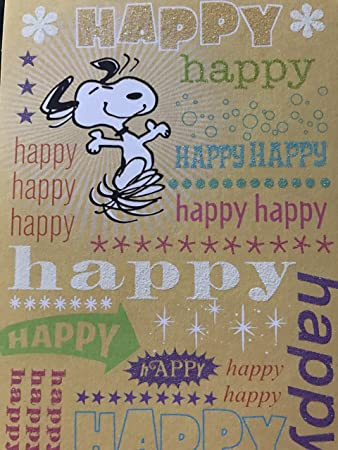 Amazon.com: Snoopy, Happy Happy Happy Happy Tarjeta de ...