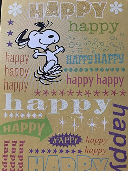 Image Unavailable Not Available For Color SNOOPY PEANUTS HAPPY BIRTHDAY CARD