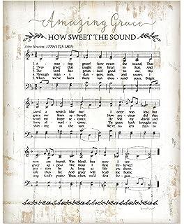 Amazon com: P  GRAHAM DUNN Amazing Grace Faded Music Notes 14 x 24
