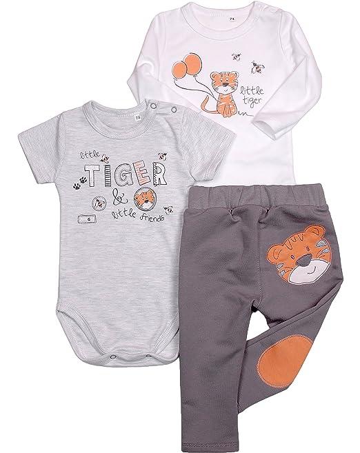 14bda1f9a3 Be Mammy Conjunto Body Pantalones y Camisetas Bebé Niño Tiger 3109 ...