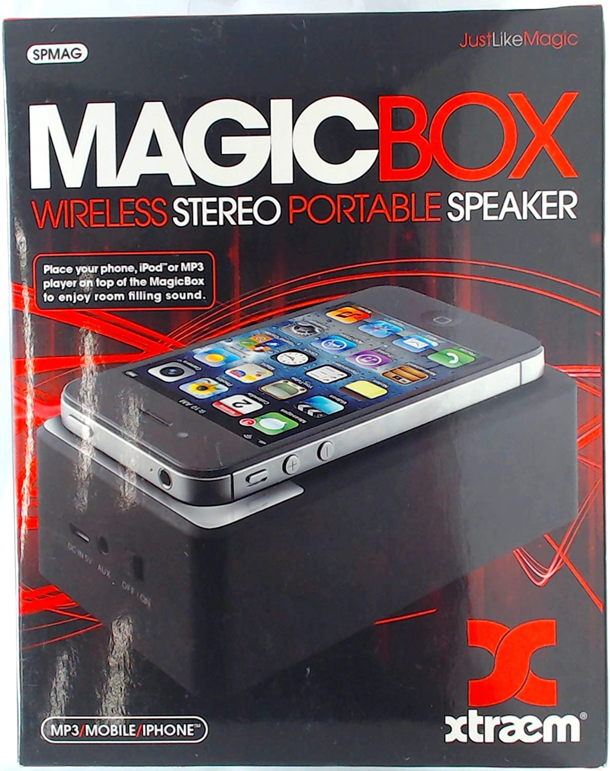 Portable Induction Speaker Tablet Stand Mobile Phone Cellphone Support Wireless