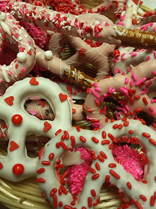 Amazon Com Valentine S Day Chocolate Covered Pretzels 2 Lb Party
