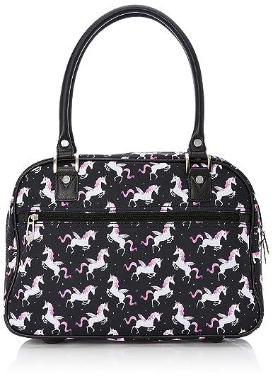 157c552a4eb New Look Womens Unicorn Cabin Top-Handle Bag Black (Black Pattern ...