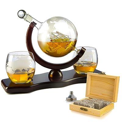 Whiskey Decanter Set Globe