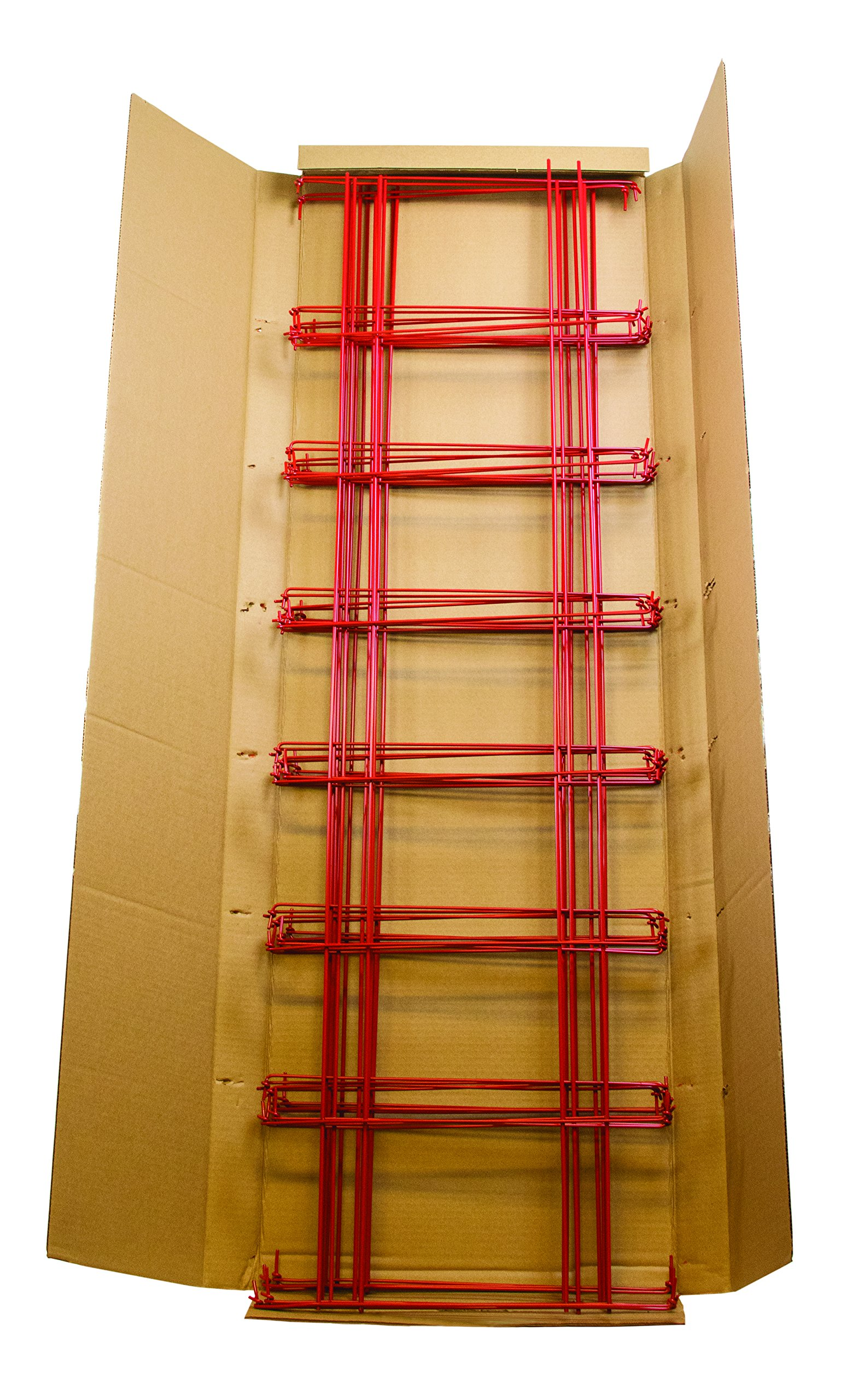 Burpee Extra Large Professional Tomato Cage 18x18x58, Heavy Gauge, Red, MADE IN THE USA