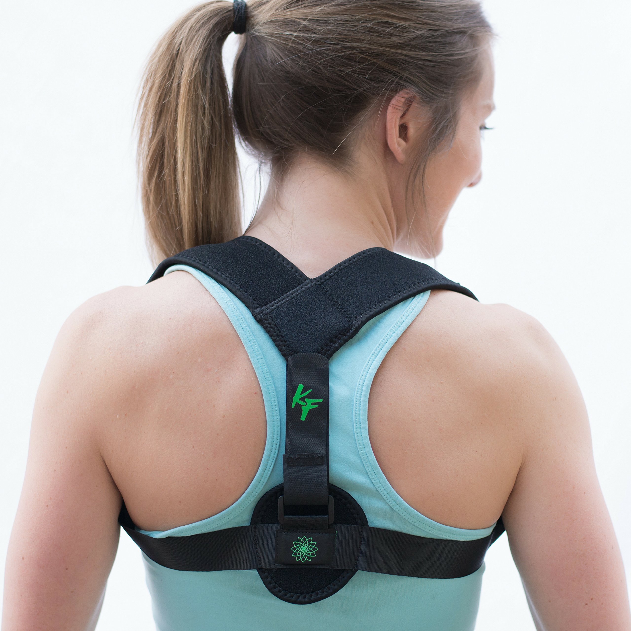 Khora Fitness Posture Corrector - Adjustable Clavicle Brace Support for Men and Women - Breathable and Comfortable Under Clothes - Orthopedic and Therapeutic Shoulder/Back Correction and Straightening