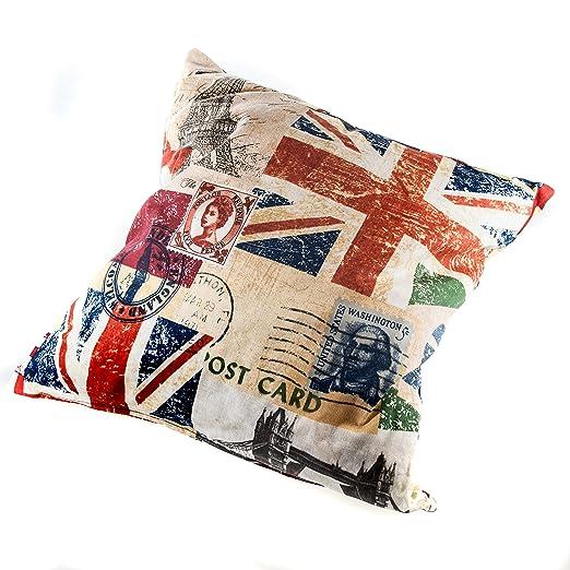 Cojín Imitación Vintage, Vespa Italianos o bandera inglesa ...