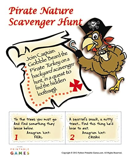 photo relating to Pirate Party Printable known as Mother nature Scavenger Hunt Printable Pirate Celebration Sport for Mac [Down load]