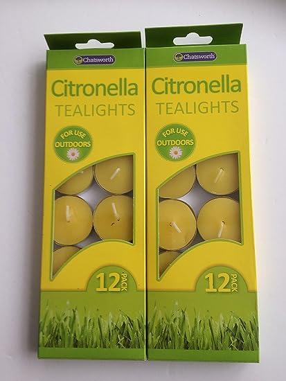24 x citronela velas al aire libre Citronella velas anti anti ...