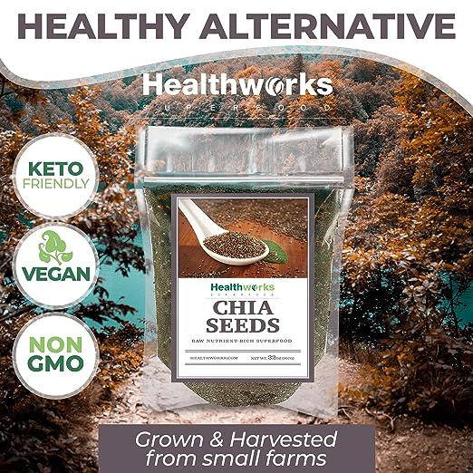 Semillas de chía Healthworks de 3libras y ...