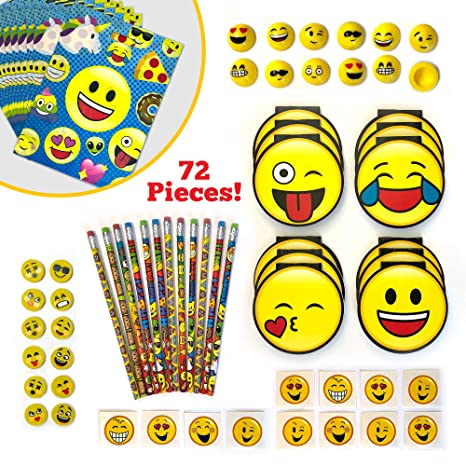 Emoji Party Favors And Goodie Bags For 12 Kids
