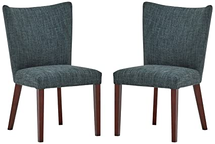 Incredible Rivet Tina Mid Century Modern Curved Back Kitchen Dining Room Table Chairs 25W X 36H Marine Blue Set Of 2 Inzonedesignstudio Interior Chair Design Inzonedesignstudiocom