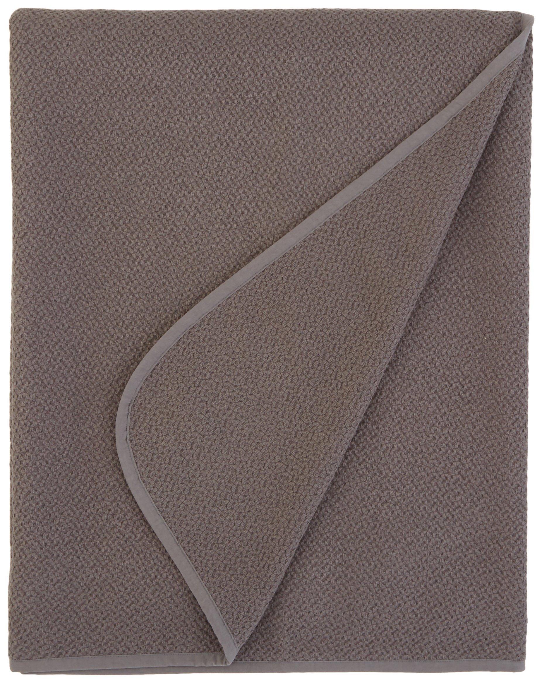 Coyuchi Honeycomb Organic Blanket, King, Mid Gray