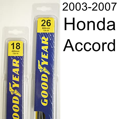 High Quality Honda Accord (2003 2007) Wiper Blade Kit   Set Includes 26u0026quot; (