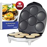 Arepa Maker by StarBlue with FREE Recipes eBook - Quick and Electric Arepa Maker making 6 Venezuela and Colombia styles Arepas in 6 minutes AC 120V 60Hz 1200W