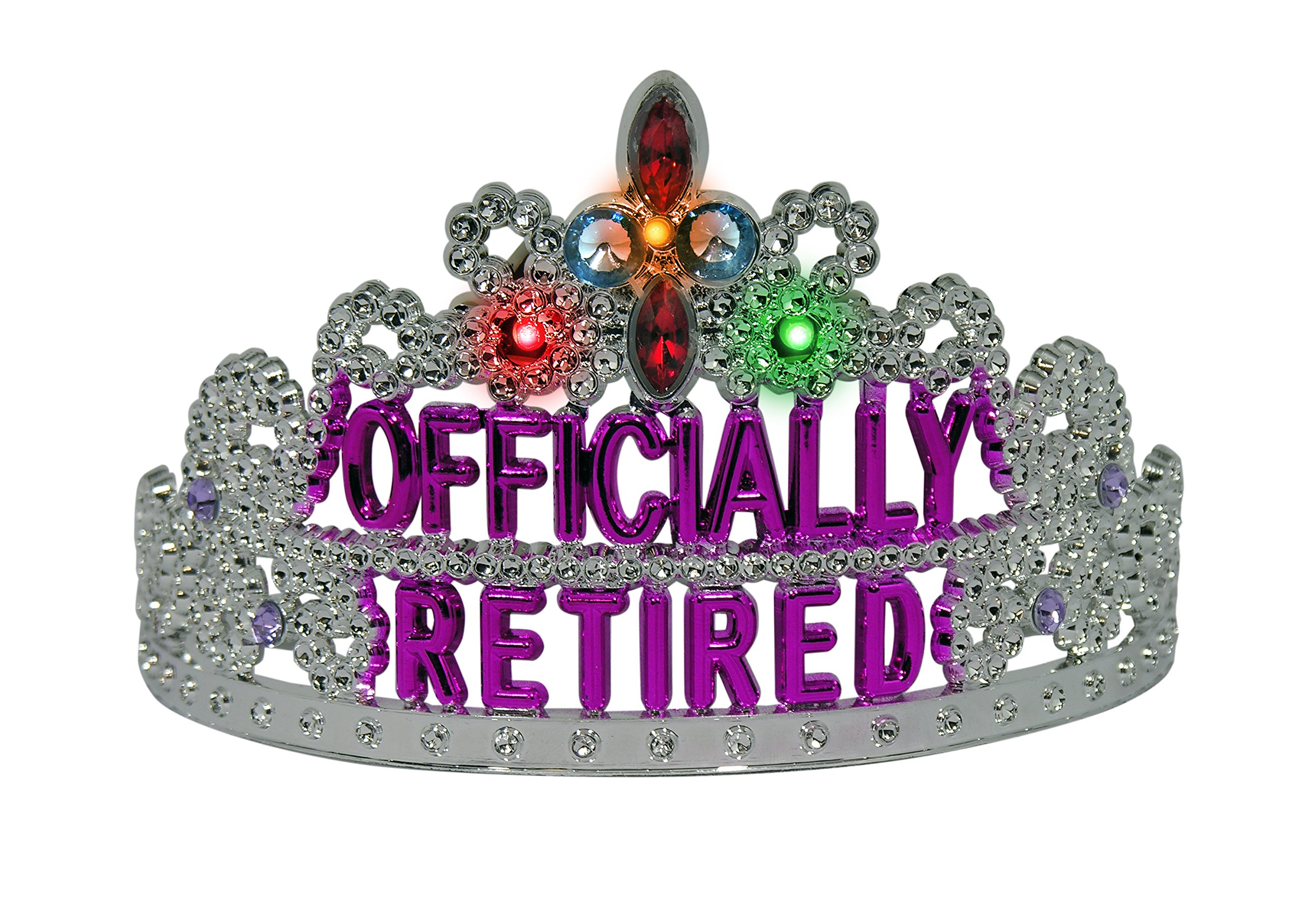 Amazon.com: Forum Novelties Officially Retired Light Up Retirement Party  Tiara: Health & Personal Care