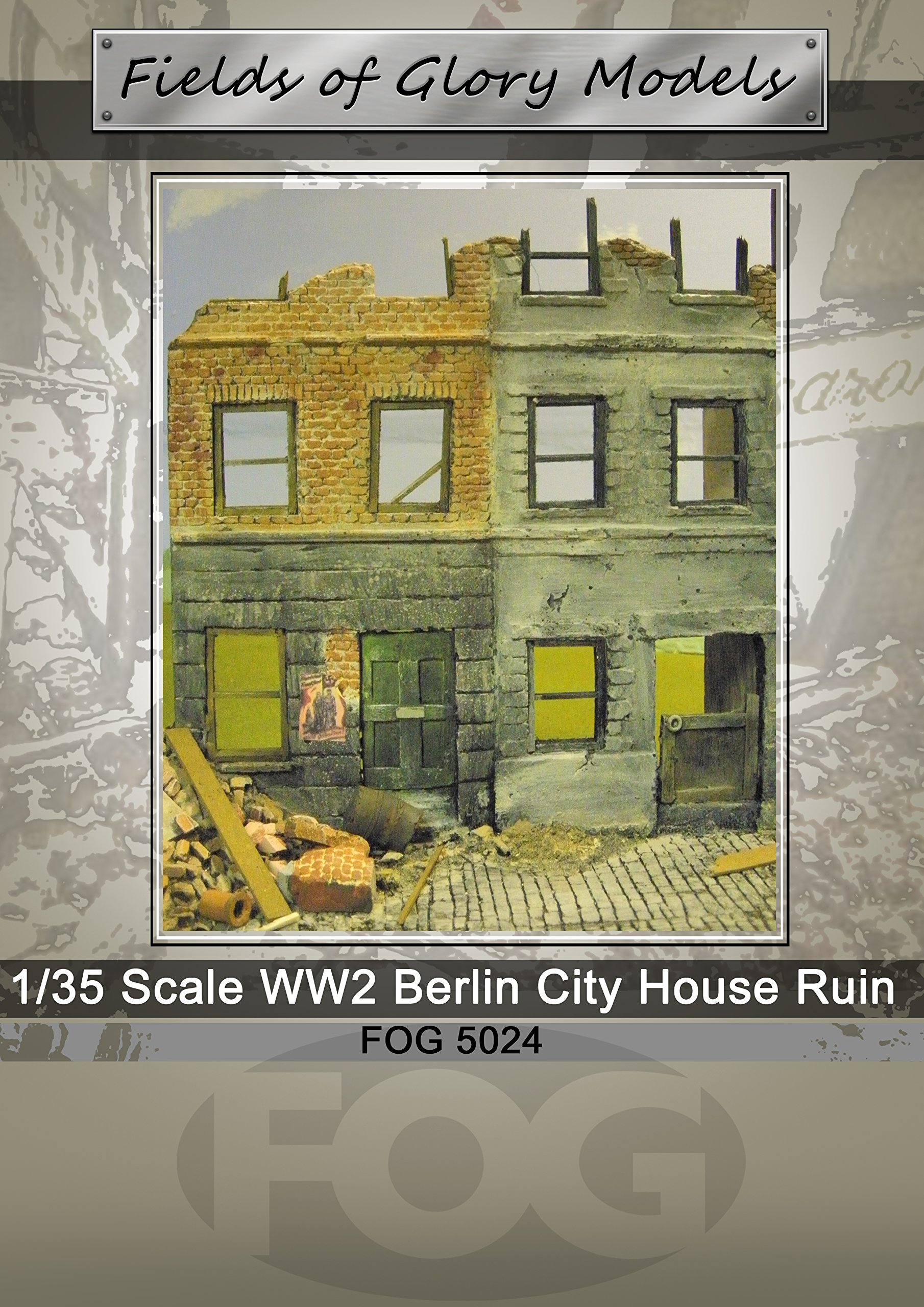 1/35 Scale ~ WW2 Berlin City House Ruin by Fields of Glory