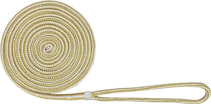 "NICE! USA Made WHITE Double Braid Anchor Line  1//2/"" X 50/' Non-Fading"