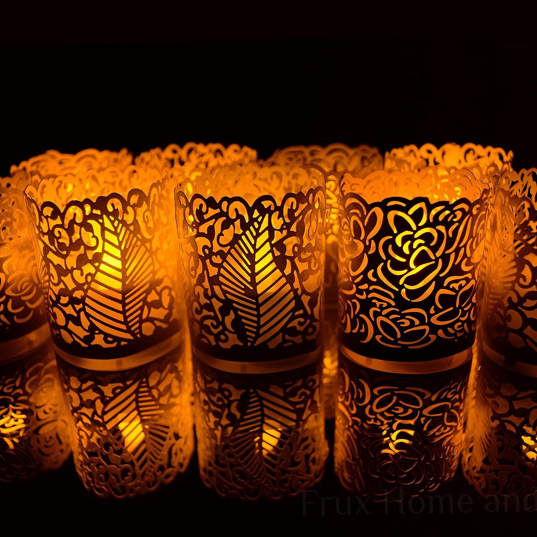 Impacchi Votivi Senza Fiamma 48 Rame Colore Decorativo Luce Del t/è Involucri Supporti Per Senza Fiamma Tealights e Candele Votive