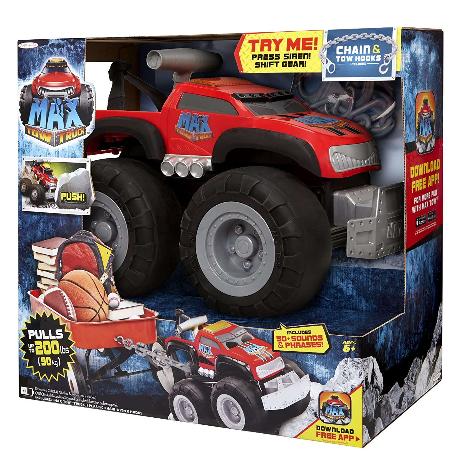 max tow truck red amazon co uk toys u0026 games