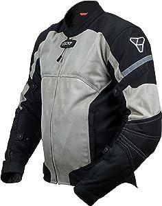 Pilot Motosport Men's Direct Air Mesh Motorcycle Jacket (V3) (Silver, Large)