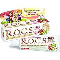 Dentífrico R.O.C.S. Kids Agracejo con sabor a agracejo.