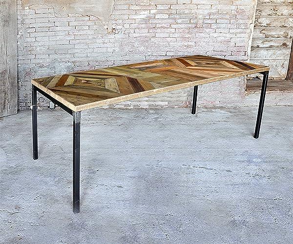 Tavolo Realizzato Con Legno Di Recupero Listoni Di Pallet Amazon