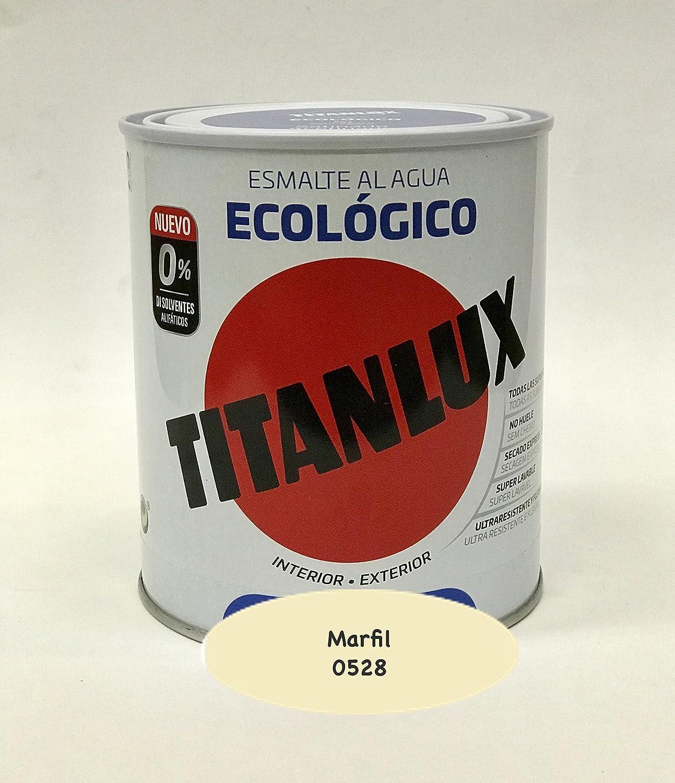 Titanlux - Esmalte Ecoló gico Acrí lico Satinado Titan 750 ml (Marfil 0528)