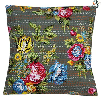 Amazon.com: Juego de sofá Indian Kantha algodón Cojín hecho ...