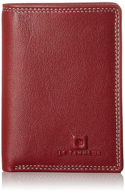 Le Tanneur - Touraine Tou3504, Carteras Hombre, Rojo (Rouge), 0.5x10x7