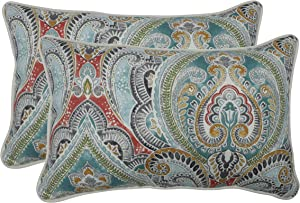 Pillow Perfect Outdoor | Indoor Pretty Witty Reef Rectangular Throw Pillow (Set of 2), Blue