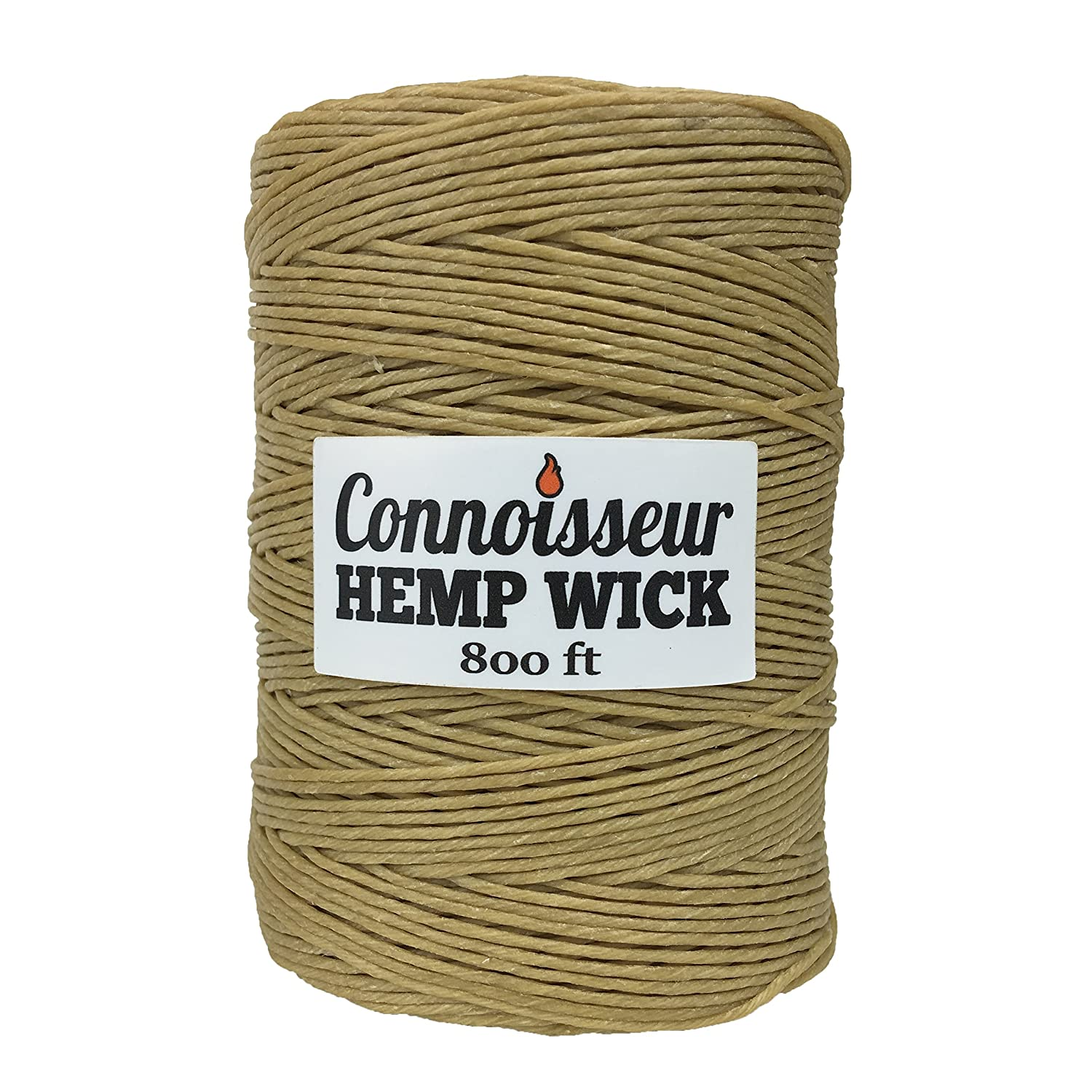 Natural Hemp Wick Spool (800 FT) Natural Beeswax Coating | Slow Burn, Long-Lasting Refill | DIY Tea Lights, Candle Making, Tapers | Standard Dispenser Use | 1.0mm TopShelfCompany 800FT