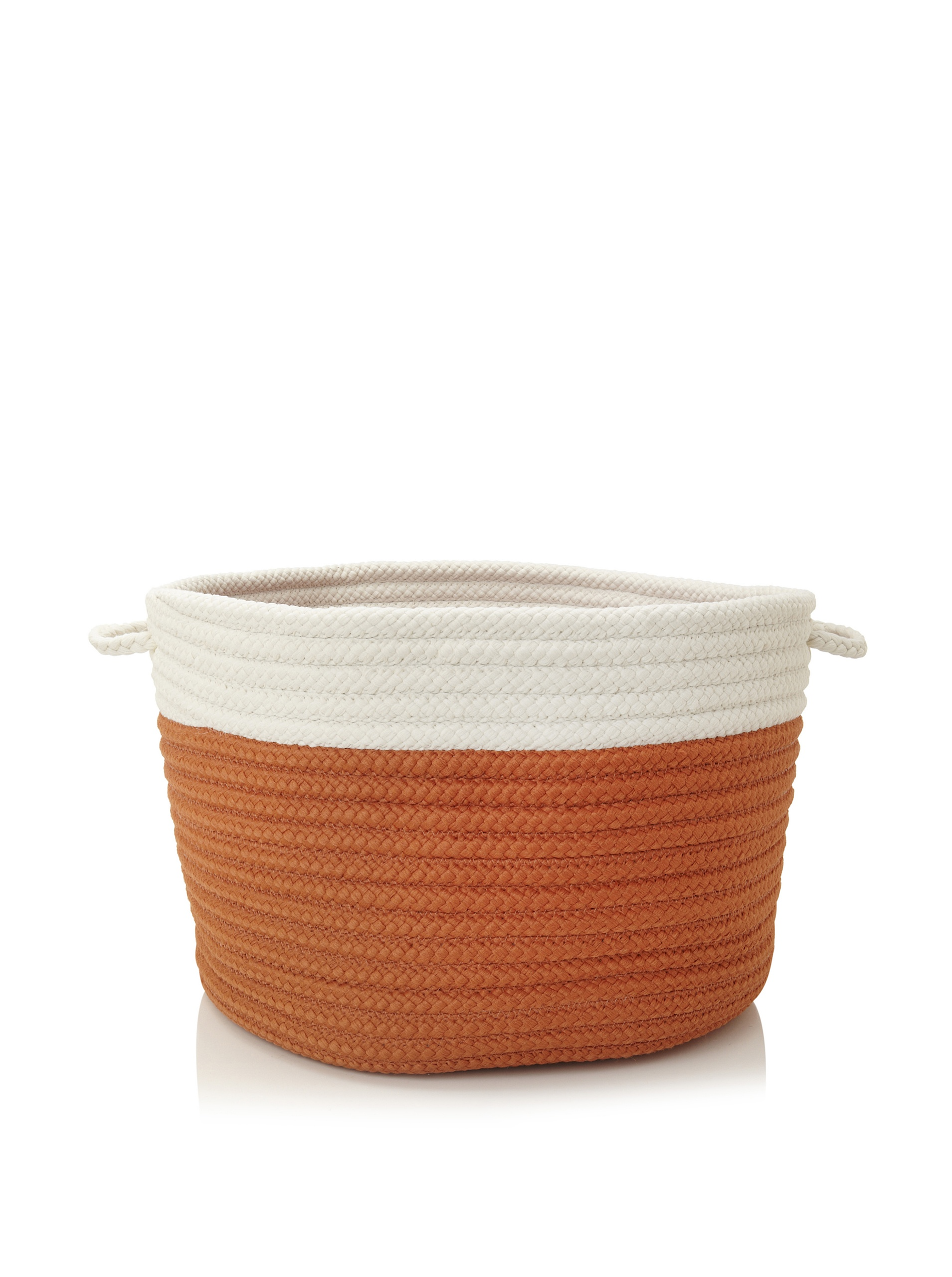 Colonial Mills Indoor/Outdoor Two-Toned Storage Basket, Orange - Stain/Fade Resistant Two Easy-Grip Handles Made in USA - living-room-decor, living-room, baskets-storage - 91GS4P35G3L -