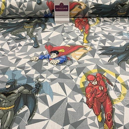 DC Marvels Comic Superman, Batman & Flash Craft Tela 100% algodón ...