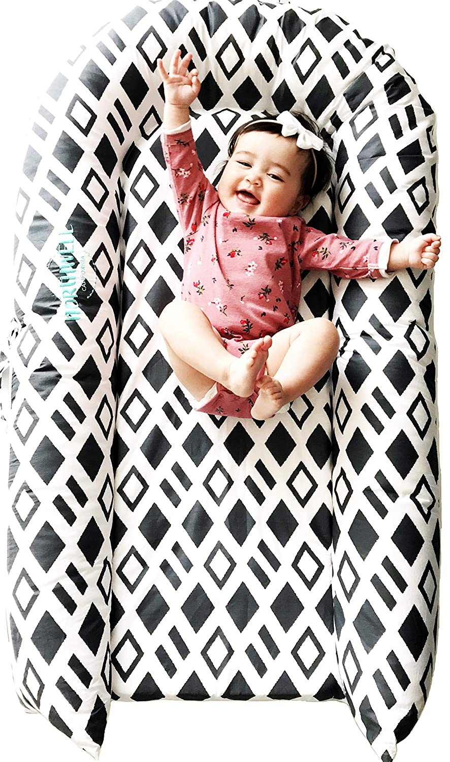 Toddler Nest for 9-36 Months CuddleNest Mighty by LoLueMade: Toddler Lounger Harbor Mist and Resting Station