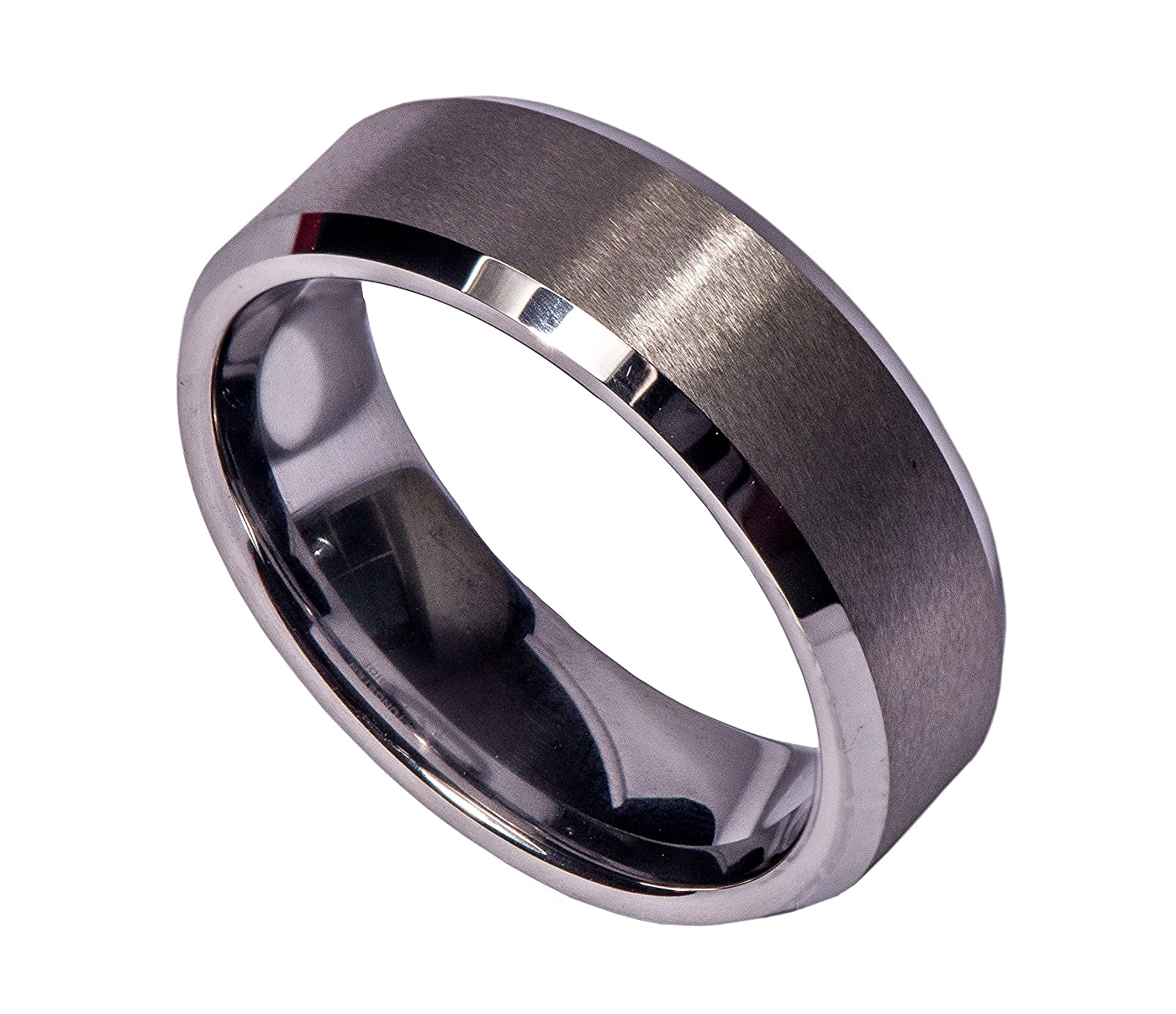 Tungsten Men s Wedding Bands Archer fort Fit Ring Matte