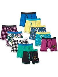 Spotted Zebra Amazon Brand Boys' 10-Pack Boxer Brief Underwear